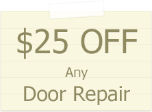 25$ garage door repair