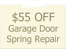55$ garage door spring replacement